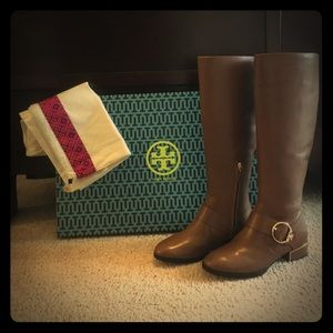Brand new Tory Burch riding boots-extended calf